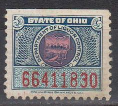 State of Ohio: Department of Liquor Control Revenue Stamp.