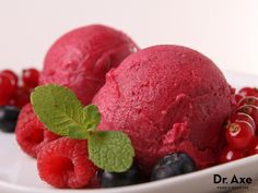 "Blackberry Sorbet: ""This blackberry sorbet recipe is delicious! Only calling for 3 ingredients, it's super easy to make and deliciously refreshing!"""