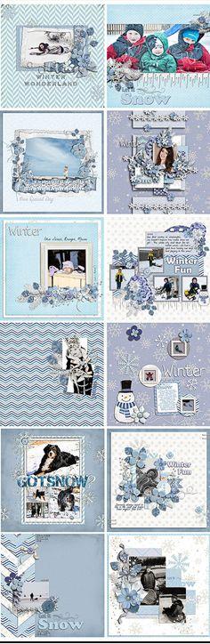 Frozen Winter Frost DIgital Scrapbook Kit by DigiScrapDelights  #scrapbooking #christmas #cheer #digital #digiscrapdelights