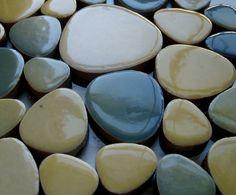 "Ceramic ""tiles"" to do mosaics 50 Ceramic Pepple Tiles for Arts & Crafts 2-5cm -Tiles for kids, adults, schools   eBay"