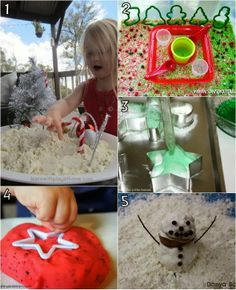 5 Simple, Fun Christmas Sensory Play ideas for kids. #Christmas #KidsActivities