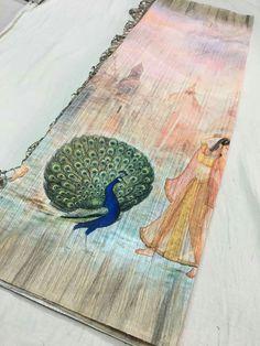 Pure Linen digital prints sarees Prices:2999 Order what's app 7995736811