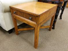 This wood end table is priced at $95; retails for $229. #shopandsave