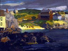 """""""Cloud Shadows,"""" George Wesley Bellows, 1913"""