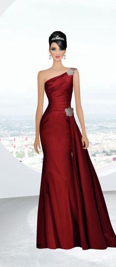 Covet Fashion Evening Dresses, Prom Dresses, Formal Dresses, Covet Fashion, Fashion Art, Award Show Dresses, Donia, Maid Dress, Fashion Design Sketches