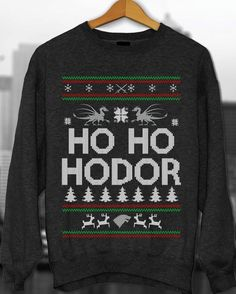 Ugly Sweater Contest, Game Of Thrones, Hodor, Ugly Christmas Sweater, Christmas…