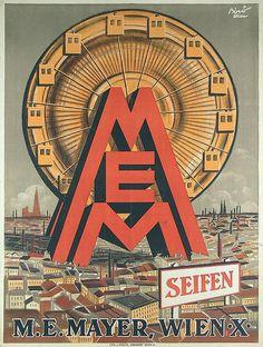 Original 1920s MIHALY BIRO Austria Soap Poster