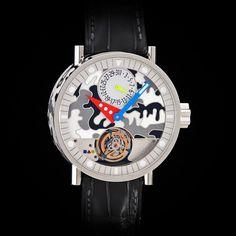 """Alain Silberstein Tourbillon """"Volante"""" White Enamel Dial and Case. Work of Art! Alain Silberstein, White Enamel, Luxury Watches, Chronograph, Clock, Artwork, Accessories, Ebay, Contemporary"""