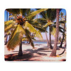 Tropical Beach Cutting Board Glass Cutting Board, Custom Mouse Pads, Day Up, Corner Designs, Tropical Paradise, Big Island, Dream Vacations, Palm Trees, Hawaiian