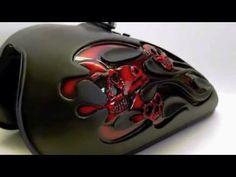 """Disciplined1Designs - """"3D Flames & Skulls Tank"""""""