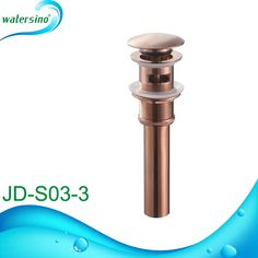 Rose Gold Plated Brass Basin Water Waste Drainer for Sink