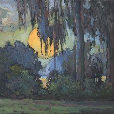 In The Evening by Jan Schmuckal Oil ~ 8 x 8