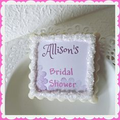 Bridal Shower Favors-Personalized Wedding by NeverGrowUpBakery