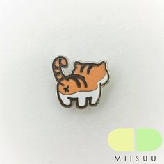 Orange Tabby Cat Butt Enamel Pin
