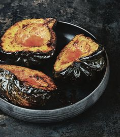 Grilled acorn squash with smoky maple butter — mark bittman Acorn Squash Recipes, Butternut Squash, Butter Squash Recipe, Vegetable Recipes, Vegetarian Recipes, Vegetable Sides, Mark Bittman, Fire Cooking, Pumpkins