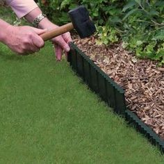 Bosmere Flexi Edge Lawn Edging can be shaped to any curve and simply slots into place. It keeps your lawn edges neat and tidy without the need to trim them. Garden Edging, Garden Borders, Lawn And Garden, Garden Paths, Garden Tools, Plastic Lawn Edging, Metal Landscape Edging, Edging Ideas, Border Ideas