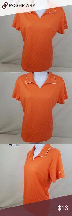 NWT Nike Golf Womens Polo Shirt Size Medium Orange NWT Nike Golf Womens Polo Shirt Size Medium Orange Dri-Fit Athletic Top - C1 Nike Tops