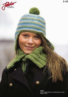 Cute hat with matching scarf.