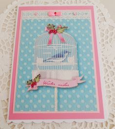 Shabby & Chic Christmas Card by picocrafts on Etsy