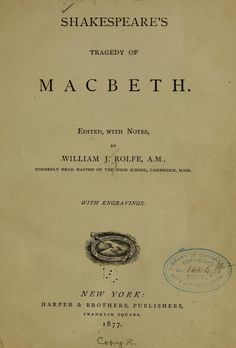 """Macbeth"" by Shakespeare"