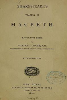 """Macbeth"" by Shakespeare"