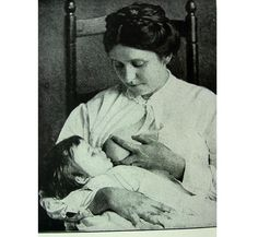 Breast Feeding , from 1916 Medical Book, Black and White Photo Illustrations of Mother Feeding Child. $11.00, via Etsy.
