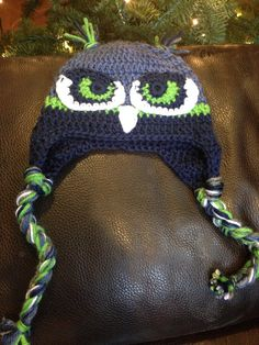 Seattle Seahawks Hawk Hat by FromThisToThatHat on Etsy
