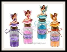 """Add a little of magic to any gift with Fairy Dust for every little girls dreams to come true .""""I do believe in Fairies""""   12 cm Beautiful Fairy on Glass Bottle Fairy Dust (pink,yellow,purple or blue)  learninggoddess.com"""