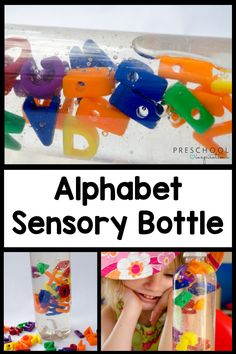 This alphabet sensory bottle is the perfect way to work on the alphabet and have an awesome sensory bottle at the same time! It's great for a literacy center or even as a behavior management tool. Easy to pair with a great book, like Chicka Chicka Boom Boom!