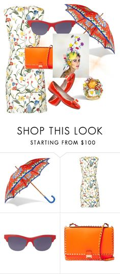 """""""April Showers"""" by janeundone ❤ liked on Polyvore featuring Dolce&Gabbana, Alice + Olivia, Kenzo, Valentino and Salvatore Ferragamo"""