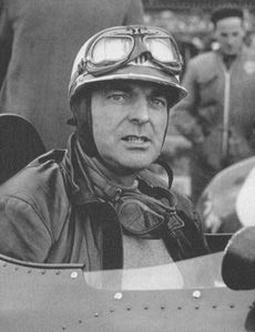 """Henry O'Reilly """"Harry"""" Schell (1921-1960) American Grand Prix racing driver; born in Paris to an auto racing enthusiast American couple; raced in Europe, in Formula 3, Formula 2 & Formula One (from 1950); led the Spanish Grand Prix (1954); 2nd at the 12 Hours of Sebring (1957); 2nd in Dutch GP (1958); died in practice at Silverstone, when his car crashed at @100 mph; the roll-bar, which he had advocated, became standard in Formula One in 1961"""
