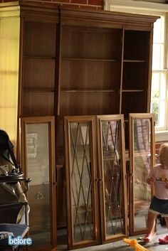 I just know we need to paint our china cabinet...this is such a great transformation.