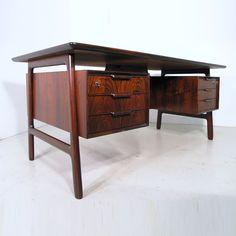 Gunni Omann for Omann Junior rosewood model 75 desk, Denmark 1960s