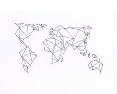 40 world map tattoos that will ignite your inner travel bug map image result for world map triangular style tattoo gumiabroncs Gallery