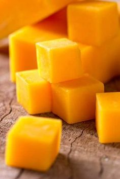 cheddar cheese cubes: Learn how to make cheddar cheese at home.