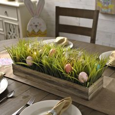 Celebrate Easter with everyone's favorite tradition — home decor style. Add the Easter Egg Hunt Centerpiece to your dining room table, coffee table or console table for a festive holiday touch!