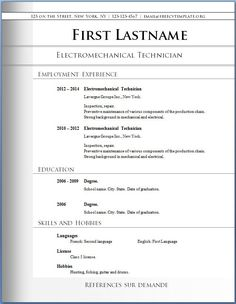 download blank resume format httpwwwresumecareerinfodownload - Free Resume Builder For High School Students