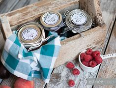 Make jam jar labels