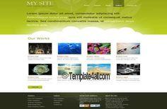CSS Templates - Clouds Green Website Template #css #green #clouds #csstemplates