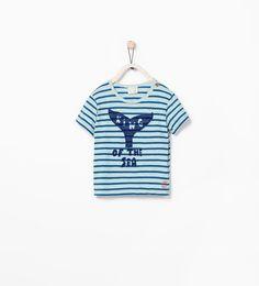 STRIPED WHALE T-SHIRT-T-shirts-Baby boy (3 months - 3 years)-KIDS   ZARA United States