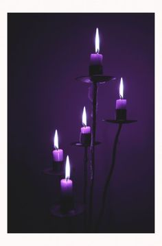 black and purple candles