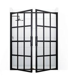 I feel like I NEED these shower doors!  Gridscape® series – Coastal Shower Doors