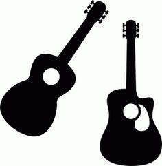 Silhouette Online Store - View Design #58417: guitars