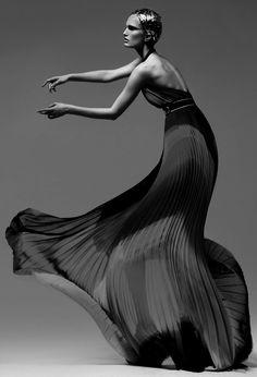 Alla Kostromichova by Kevin Sinclair -  BW fashion photography