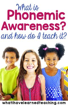 Phonemic Awareness is an important early reading skill for preschoolers and kindergarteners to develop. Do you know what it is and how to teach it? Teaching Reading | Teaching Language Arts | Early Elementary | Remedial Reading | Reading Foundation | Early Childhood Education | Preparing Kids for Kindergarten | Kindergarten Preparation