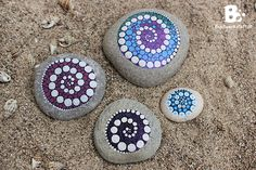 DIY Mandala Stones Tutorial colorful-crafts.com..Lots of tips for dot painting and painting mandalas!