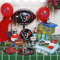 Football Season And Birthdays Only Come Once A Year For Houston Texans Fans That Can Be Real Treat With The Latest In Party Decorations