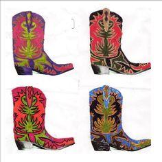 cowboy boot color experiments