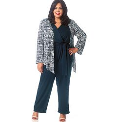 From McCall's designer Khaliah Ali: a chic new jumpsuit pattern that can be worn with a loose jacket. M7135, Misses'/Women's Shrug, Dress, Jumpsuit and Belt