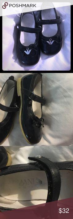 Armani patente leather shoes ! Sz 23   Italy us 6 c good condition A/X Armani Exchange Shoes Dress Shoes